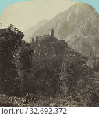 Ruines St-Gervais a Mont Jovet. Vallee d'Aoste., Adolphe Braun (French, 1812 - 1877), 1865–1875, Albumen silver print (2019 год). Редакционное фото, фотограф ARTOKOLORO QUINT LOX LIMITED / age Fotostock / Фотобанк Лори