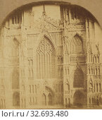 York Minster. West Front, Decorated Gothic, erected A.D. 1330, by Archbishop de Melton., J. Draffin (British, active 1860s), about 1860, Albumen silver print (2019 год). Редакционное фото, фотограф ARTOKOLORO QUINT LOX LIMITED / age Fotostock / Фотобанк Лори