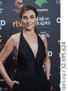Mona Martinez ('Adios') attends Candidates to Goya Cinema Awards 2018 Dinner Party at Florida Park on December 16, 2019 in Madrid, Spain. Редакционное фото, фотограф Manuel Cedron / age Fotostock / Фотобанк Лори