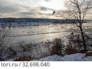 Купить «Тотьма. Река Сухона в ноябре», фото № 32698040, снято 22 ноября 2019 г. (c) Ирина Яровая / Фотобанк Лори