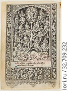 The Tree of Jesse, from a Book of Hours, n.d., Thielmann Kerver, German, flourished 1497-1524, Germany, Woodcut (or soft metal relief cut) on vellum (both... Редакционное фото, фотограф ARTOKOLORO QUINT LOX LIMITED / age Fotostock / Фотобанк Лори
