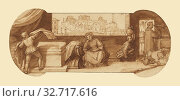 Купить «Taddeo Employed on Menial Tasks at Calabrese's House, Federico Zuccaro (Italian, about 1541 - 1609), about 1595, Pen and brown ink, brush with brown wash...», фото № 32717616, снято 17 июня 2019 г. (c) age Fotostock / Фотобанк Лори