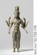 Three Buddhist Statuettes, Avalokiteshvara, Standing, eight-armed Avalokitesvara, origin unknown, but tesmen with MAK 123 2 and 1233 found in Southwest... Редакционное фото, фотограф ARTOKOLORO QUINT LOX LIMITED / age Fotostock / Фотобанк Лори