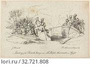 Купить «Landing of British Army under Abercrombie, n.d., Unknown Artist, after John Augustus Atkinson (English 1775-1838), published by Rudolph Ackermann (English...», фото № 32721808, снято 10 июля 2020 г. (c) age Fotostock / Фотобанк Лори