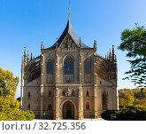 Saint Barbara Cathedral. Kutna Hora. Czech Republic. Стоковое фото, фотограф Яков Филимонов / Фотобанк Лори