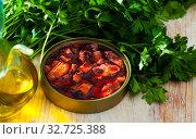 Купить «Pacific squid tentacles in Galician sauce», фото № 32725388, снято 22 февраля 2020 г. (c) Яков Филимонов / Фотобанк Лори