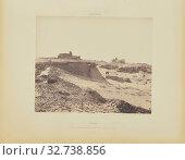 Assouan. Ruines de l'Ancienne Enceinte Arabe, au sud-est de la ville, Félix Teynard (French, 1817 - 1892), Aswan, Egypt, negative 1851 - 1852, print 1853... (2019 год). Редакционное фото, фотограф ARTOKOLORO QUINT LOX LIMITED / age Fotostock / Фотобанк Лори