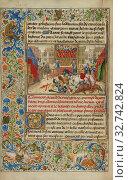 A Duel between Gillion de Trazegnies and the Saracen Nobleman, Lucion, for the Hand of Natalie, Lieven van Lathem (Flemish, about 1430 - 1493), David Aubert... (2019 год). Редакционное фото, фотограф ARTOKOLORO QUINT LOX LIMITED / age Fotostock / Фотобанк Лори