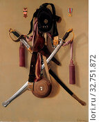 Купить «Civil War Regalia of Major Levi Gheen McCauley, 1887, George Cope, American, 1855–1929, United States, Oil on canvas, 127 × 92.7 cm (50 × 36 1/2 in.)», фото № 32751872, снято 17 сентября 2019 г. (c) age Fotostock / Фотобанк Лори