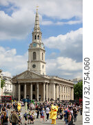 London, Great Britain, Church of St Martin-in-the-Fields at Trafalgar Square (2017 год). Редакционное фото, агентство Caro Photoagency / Фотобанк Лори
