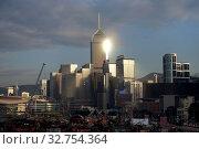 Купить «Hong Kong, China, view of the Wan Chai district with the Hong Kong Central Plaza Hotel», фото № 32754364, снято 10 декабря 2016 г. (c) Caro Photoagency / Фотобанк Лори