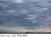 Купить «Yarmouth, Great Britain, thunderclouds over the Solent with view to Hurst Castle», фото № 32754456, снято 28 мая 2017 г. (c) Caro Photoagency / Фотобанк Лори