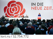 Berlin, Germany - Malu Dreyer speaks at the opening of the federal party conference of the SPD. Редакционное фото, агентство Caro Photoagency / Фотобанк Лори
