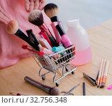 Купить «Beauty products nail care tools pedicure closeup», фото № 32756348, снято 31 мая 2017 г. (c) Elnur / Фотобанк Лори