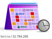 Купить «Calendar concept for planning purposes - 3d rendering», фото № 32784288, снято 24 января 2020 г. (c) Elnur / Фотобанк Лори