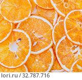 Купить «The pattern arranged with dried orange slices», фото № 32787716, снято 5 марта 2017 г. (c) Elnur / Фотобанк Лори