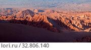 Купить «Valle de la Muerte in der Atacama Wüste in Chile», фото № 32806140, снято 29 мая 2020 г. (c) easy Fotostock / Фотобанк Лори