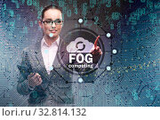 Fog and edge cloud computing concept. Стоковое фото, фотограф Elnur / Фотобанк Лори