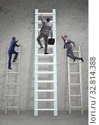 Купить «The career progression concept with various ladders», фото № 32814388, снято 5 июля 2020 г. (c) Elnur / Фотобанк Лори