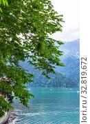 Купить «Озеро Рица. Абхазия», фото № 32819672, снято 26 июня 2019 г. (c) Евгений Ткачёв / Фотобанк Лори