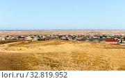 Купить «Small village in the desert. Rural landscape», фото № 32819952, снято 24 сентября 2019 г. (c) Евгений Ткачёв / Фотобанк Лори
