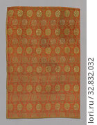 Купить «Panel, 1890s, Possibly England or France, England, Cotton, silk, wild silk and gilt-metal-strip wrapped cotton, double faced weave of two sets of complimentary...», фото № 32832032, снято 17 сентября 2019 г. (c) age Fotostock / Фотобанк Лори