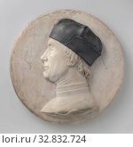Купить «Portrait of a Man, Man's Portrait, The man is placed to the left in profile. He wears a beret on the curly hair, which largely covers ears and neck. Above...», фото № 32832724, снято 3 июля 2020 г. (c) age Fotostock / Фотобанк Лори