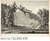 Купить «Waterfall Above Tivoli, from Malerisch radirte Prospecte aus Italien, 1792, Albert Christoph Dies, Austrian, born Germany, 1755-1822, Austria, Etching...», фото № 32835476, снято 17 сентября 2019 г. (c) age Fotostock / Фотобанк Лори