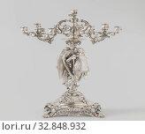 Купить «Pair of candelabra Candelabra made of partially gilt silver, Candelabra made of partially gilt silver. On the candelabrum an angel is combined with feet...», фото № 32848932, снято 3 июля 2020 г. (c) age Fotostock / Фотобанк Лори