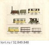 Купить «Coaches, Railcar of the Liverpool and Manchester Railway, signed: T. T. Bury (del.), H. Pyall (sculp.), Plate 7, after p. 8, Bury, Thomas Talbot (del....», фото № 32849848, снято 10 июля 2020 г. (c) age Fotostock / Фотобанк Лори