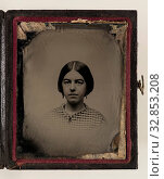 Купить «Unknown (Unknown), Jane P. Hoyt, between 1860 and 1870, ambrotype with hand coloring, Plate: 2 1/2 × 2 inches (6.4 × 5.1 cm)», фото № 32853208, снято 27 мая 2020 г. (c) age Fotostock / Фотобанк Лори
