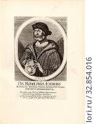 DN: Ralph A. Aescherus Republic Tigurinae consul -designate, 1499.., Portrait of Rudolf Escher from the Glass (? -1513), Signed: Joh. Meyer fecit, Fig... Редакционное фото, фотограф ARTOKOLORO QUINT LOX LIMITED / age Fotostock / Фотобанк Лори