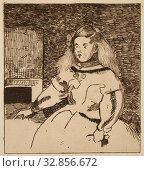 Купить «Édouard Manet, French, 1832-1883, after Diego Rodríguez de Silva Velázquez, Spanish, 1599-1660, L' Infante Marguerite, between 1862 and 1864, etching printed...», фото № 32856672, снято 15 июля 2020 г. (c) age Fotostock / Фотобанк Лори