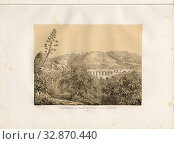 The aqueduct of Bab-el-Oued and Casbah of Algiers, Aqueduct of Bab El Oued and Kasbah in Algiers, signed: A. Otth des. Et lith, impr, chez J.F. Wagner... Редакционное фото, фотограф ARTOKOLORO QUINT LOX LIMITED / age Fotostock / Фотобанк Лори