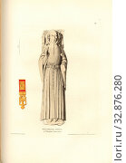 Monumental Effigy in Willoughby Church Notts, Tomb of Thomas FitzAlan, 12th Earl of Arundel, at the Holy Trinity Church, signed: Drawn by C.A. Stothard... Редакционное фото, фотограф ARTOKOLORO QUINT LOX LIMITED / age Fotostock / Фотобанк Лори