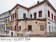 Палаты XVII в.дипломата, думного дьяка Емельяна Украинцева , Хохловский, переулок, 7 в Москве (2015 год). Редакционное фото, фотограф stargal / Фотобанк Лори