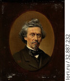Petrus Franciscus Greive (1811-72), Painter, Portrait of the painter Petrus Franciscus Greive. Bust in an oval., Meijer Isaäc de Haan, 1870 - 1895, panel... Редакционное фото, фотограф ARTOKOLORO QUINT LOX LIMITED / age Fotostock / Фотобанк Лори