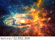 Купить «Starry sky. Galaxies and stars in space», фото № 32892304, снято 11 июня 2016 г. (c) Евгений Ткачёв / Фотобанк Лори