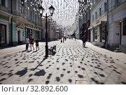Столешников переулок.  Москва (2019 год). Редакционное фото, фотограф Victoria Demidova / Фотобанк Лори