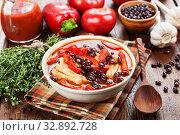 Суп с фасолью. Стоковое фото, фотограф Надежда Мишкова / Фотобанк Лори