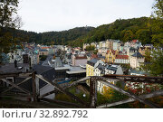 View of Karlovy Vary cityscape (2019 год). Редакционное фото, фотограф Яков Филимонов / Фотобанк Лори