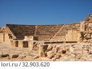 Paphos Odeum. Paphos Archaeological Park. Cyprus (2018 год). Стоковое фото, фотограф Serg Zastavkin / Фотобанк Лори