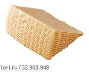 Купить «Piece of fresh semi-soft cheese», фото № 32903948, снято 27 февраля 2020 г. (c) Яков Филимонов / Фотобанк Лори