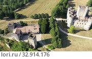 Купить «Medieval architecture, Chateau de Roquetaillade, France, at sunny summer day», видеоролик № 32914176, снято 18 июля 2019 г. (c) Яков Филимонов / Фотобанк Лори