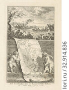 Breakthrough of the Rhine and IJssel dikes, 1754 The breaking of the Rhyn and Yssel dikes in the beginning of the Jaers 1754 (title on object), Two putti... Редакционное фото, фотограф ARTOKOLORO QUINT LOX LIMITED / age Fotostock / Фотобанк Лори