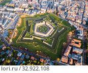 Купить «Aerial view of Citadel of Jaca, Spain», фото № 32922108, снято 2 декабря 2018 г. (c) Яков Филимонов / Фотобанк Лори