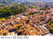 Купить «Panoramic view from drone on the city center Gorizia. Italy», фото № 32922332, снято 3 сентября 2019 г. (c) Яков Филимонов / Фотобанк Лори