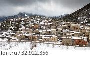 Image of Gosol village in the north of Catalonia in high (2018 год). Стоковое фото, фотограф Яков Филимонов / Фотобанк Лори