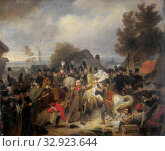 Купить «The Prince of Orange changing his Wounded Horse during the Engagement at Boutersem, The replacement of the injured horse of the Prince of Orange, later...», фото № 32923644, снято 19 февраля 2020 г. (c) age Fotostock / Фотобанк Лори