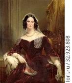 Dieuwke Fontein (1800-79), Second Wife (Married 1834) or Adriaan van der Hoop, Portrait of Dieuwke Fontein, since 1834 the second wife of Adriaan van der... Редакционное фото, фотограф ARTOKOLORO QUINT LOX LIMITED / age Fotostock / Фотобанк Лори